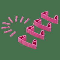 Vikan Hygiene 1019-1 Aanvulset klemmen rozefull colour 4 klemmen/8 pinnen