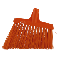 Vikan Hygiene 2914-7 hoekbezem oranje harde lange schuine vezels 290mm