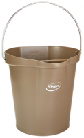Vikan Hygiene 5686-66 emmer 12 liter bruin maatverdeling en schenktuit