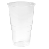 Glas bierglas splintervrij PP 300ml 117mm transparant 25x100 st