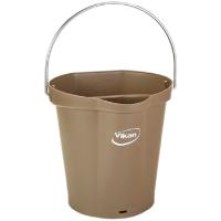 Vikan Hygiene 5688-66 emmer 6 liter bruin maatverdeling en schenktuit