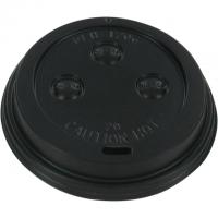 Deksel PS Ø70mm zwart 20x50 st