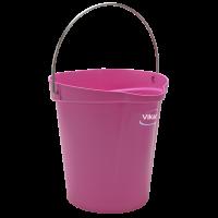 Vikan Hygiene 5686-1 emmer 12 liter roze maatverdeling en schenktuit