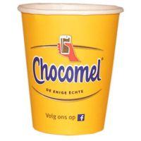 Chocomelbeker Karton/kunststof 250ml 8oz geel 20x50 st