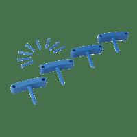 Vikan Hygiene 1016-3 Aanvulset haken blauw full colour 4 haken/8 pinnen