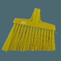 Vikan Hygiene 2914-6 hoekbezem geel harde lange schuine vezels 290mm