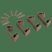 Vikan Hygiene 1019-66 Aanvulset klemmen bruinfull colour 4 klemmen/8 pinnen