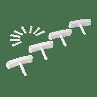 Vikan Hygiene 1016-5 Aanvulset haken wit full colour 4 haken/8 pinnen