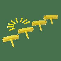 Vikan Hygiene 1016-6 Aanvulset haken geel full colour 4 haken/8 pinnen