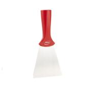 Vikan handschraper/schroefdraad 4011-4 rood breed rvs blad 100x205mm