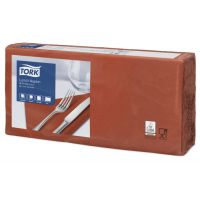 Tork tissue servet 33x33cm 2-laags 1/4-vouw terracotta 10x200