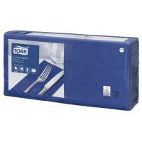 Tork tissue servet 33x33cm 2-laags 1/8-vouw midnight blue 10x200