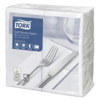 Tork tissue servet 39x39cm 3-laags 1/8-vouw wit 12x100