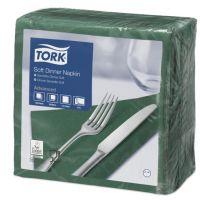 Tork tissue servet 39x39cm 3-laags 1/4-vouw Donkergroen 12x100