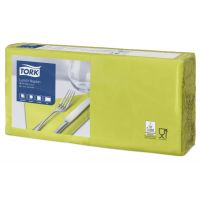 Tork tissue servet 33x33cm 2-laags 1/4-vouw pistachio 10x200