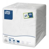 Tork tissue servet 15x15cm 1-laags 1/4-vouw wit 4x2000