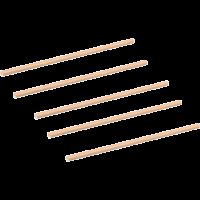 Rietje Kraftpapier 197mm bruin 12x200 st