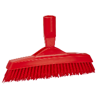Vikan Hygiene 7040-4 voegenborstel steelmodel extra hard rood 225mm