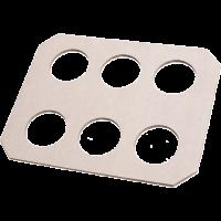 Draagtray Karton 6-vaks wit 3x50 st