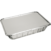 Bak Aluminium 890ml met deksel 210x150x40mm aluminium 10x25 st