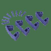 Vikan Hygiene 1019-8 Aanvulset klemmen paarsfull colour 4 klemmen/8 pinnen
