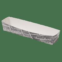 Bak Karton/Coating 185x33x35mm wit/Grijs 4x100 st