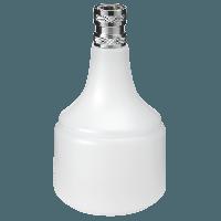 """Vikan Hygiene 1100-5 flacon 05 liter wit met 1/2"""" snelkoppeling"""