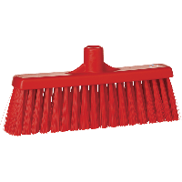 Vikan Hygiene 3166-4 veger met rechte nek medium vezels rood 310mm