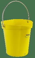 Vikan Hygiene 5688-6 emmer 6 liter geel maatverdeling en schenktuit