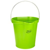 Vikan Hygiene 5686-77 emmer 12 liter limoen maatverdeling en schenktuit