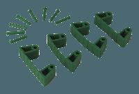 Vikan Hygiene 1019-2 Aanvulset klemmen groenfull colour 4 klemmen/8 pinnen