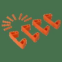 Vikan Hygiene 1018-7 Aanvulset klemmen oranjefull colour 4 klemmen/8 pinnen