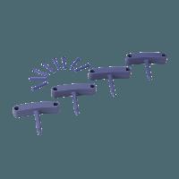 Vikan Hygiene 1016-8 Aanvulset haken paars full colour 4 haken/8 pinnen