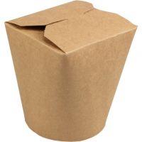 Biodore pasta box kraft/PLA 32 oz 50x10 st.