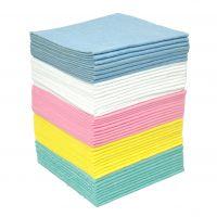 Sopdoek blauw 38 x 40 cm 1/4 vouw baal a 200 doeken
