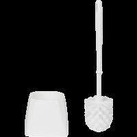 Vikan Classic 5045 toiletborstel wit harde vezels vierkante houder