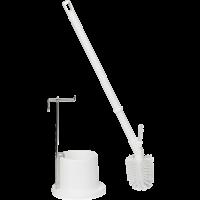Vikan Hygiene 5051-5 toiletborstel wit inclusief houder ø130mm ø90x720mm