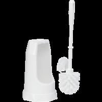 Vikan Classic 5055 toiletborstel wit met randborstel ronde houder