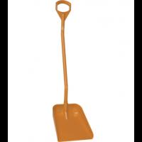 Vikan Hygiene 5601-7 schop oranje lange steel 131cm groot blad 38x34cm