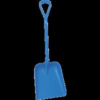 Vikan Hygiene 5623-3 schop D-grip blauw steel 104cm groot blad 38x35cm