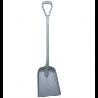 Vikan Hygiene 5625-88 schop D-gripgrijs steel 104cm standaard blad 33x27cm