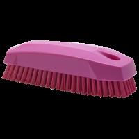 Vikan Hygiene 6440-1 nagelborstel roze harde vezels 130mm