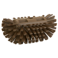 Vikan Hygiene 7037-66 tankborstel bruin harde vezels 130x205mm