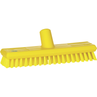 Vikan Hygiene 7041-6 luiwagen geel extra harde vezels watertoev 270mm