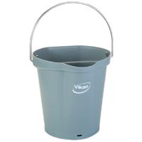 Vikan Hygiene 5688-88 emmer 6 liter grijs maatverdeling en schenktuit