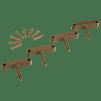 Vikan Hygiene 1016-66 Aanvulset haken bruin full colour 4 haken/8 pinnen