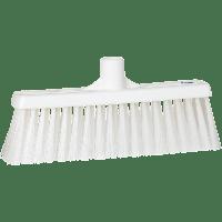 Vikan Hygiene 3166-5 veger met rechte nek medium vezels wit 310mm