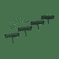 Vikan Hygiene 1016-2 Aanvulset haken groen full colour 4 haken/8 pinnen