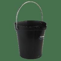 Vikan Hygiene 5688-9 emmer 6 liter zwart maatverdeling en schenktuit