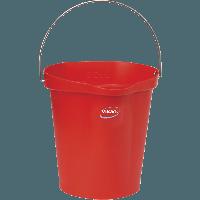 Vikan Hygiene 5686-4 emmer 12 liter rood maatverdeling en schenktuit